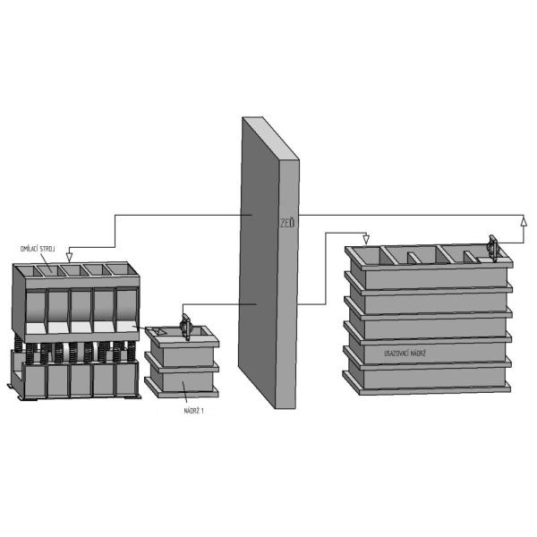 Dopravní a usazovací nádrž